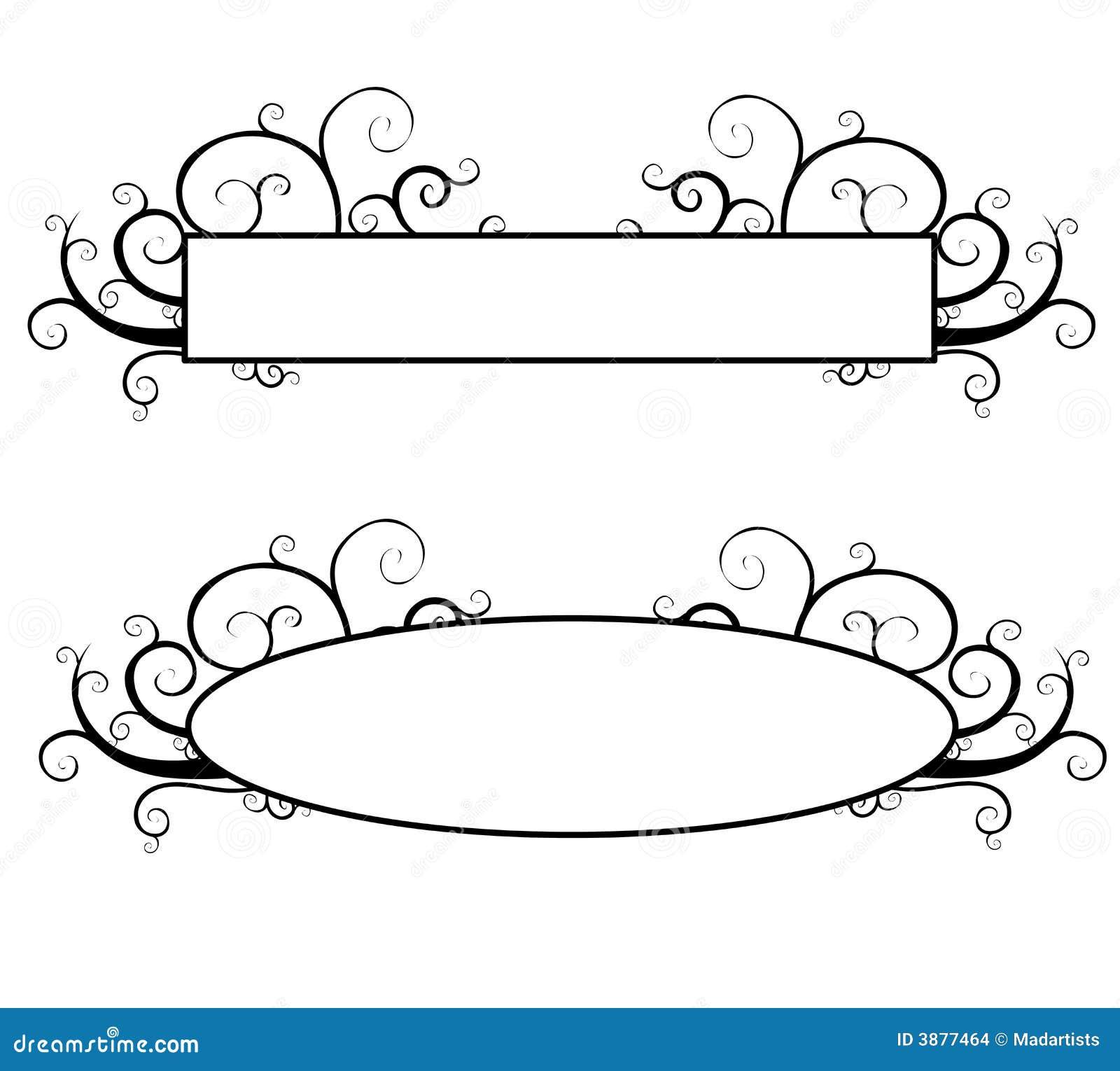 Black And White Decorative Swirls Logo Stock Illustration ...