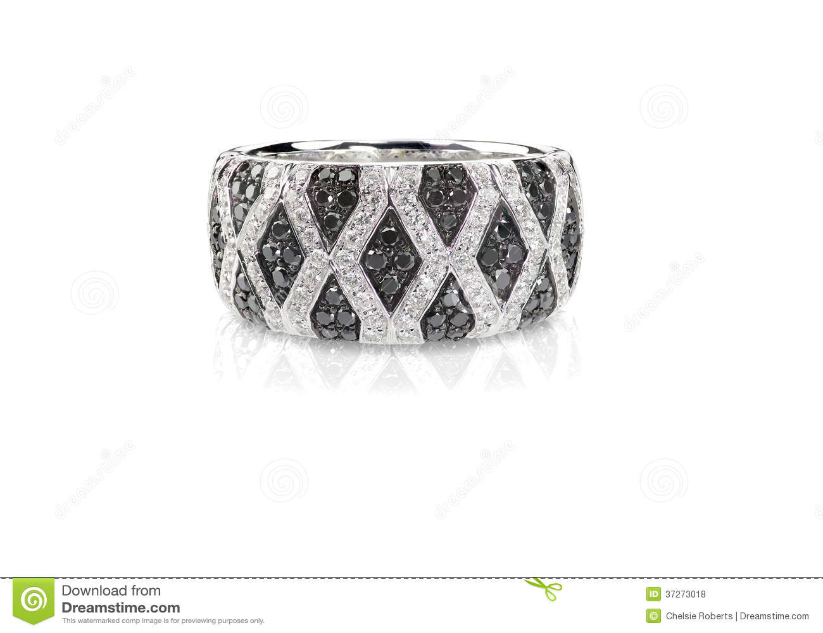 Black And White Diamond Onyx Pave Wedding Fashion Ring