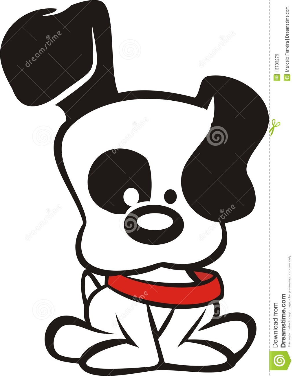 Black And White Dog Cartoon Royalty Free Stock Images