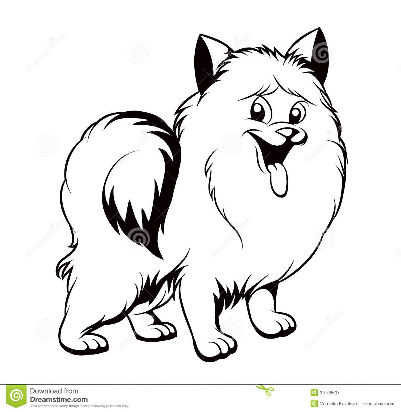 Black And White Drawing Of The Dog Stock Vector - Image ...