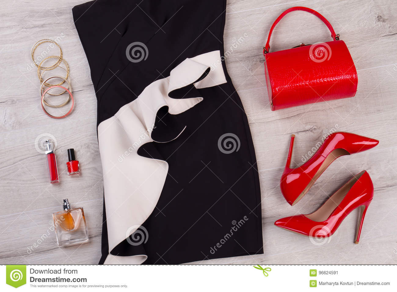 Red and Black Accessories