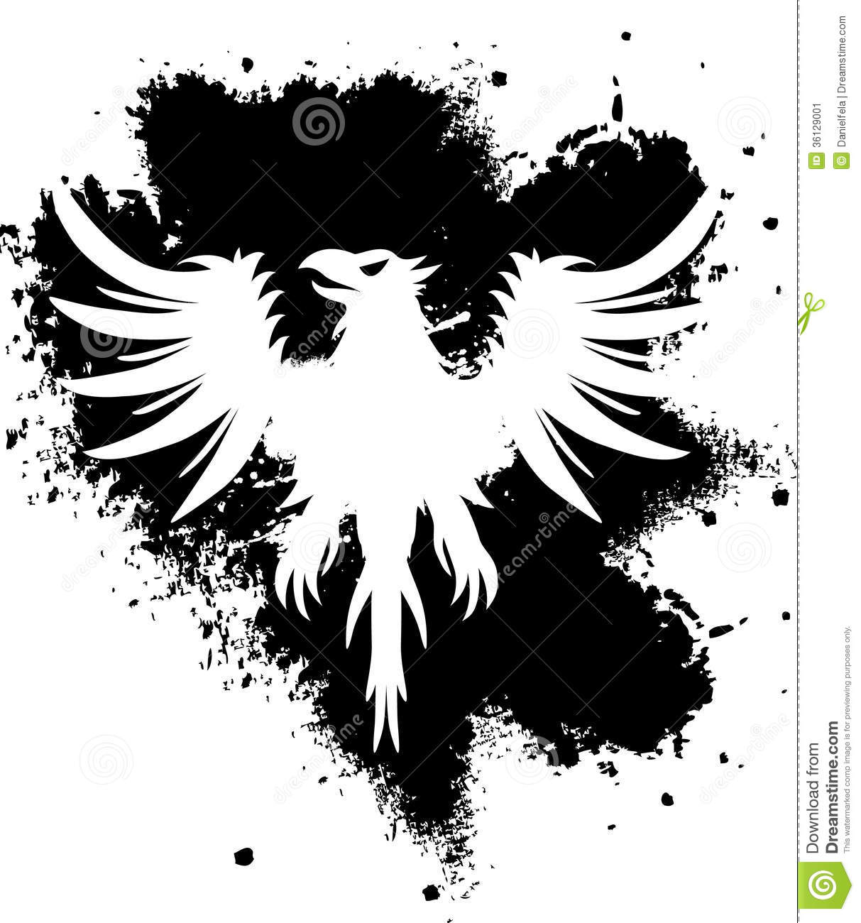 Black and white eagle stock vector. Image of illustrations ...