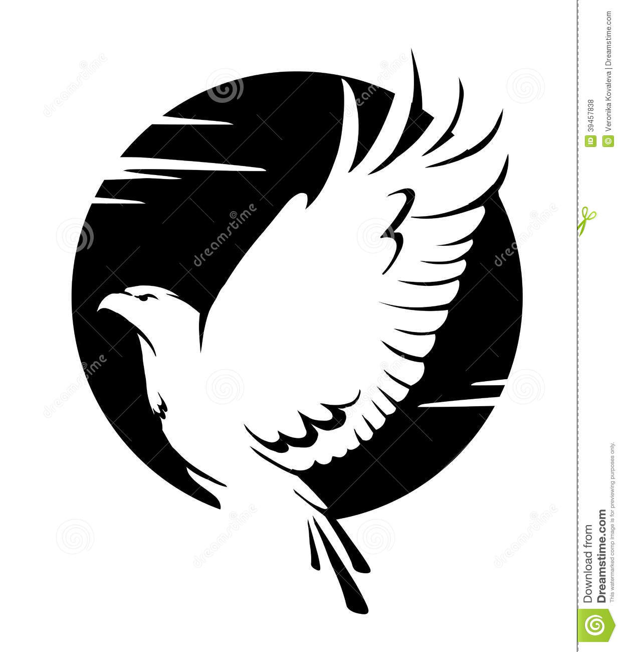 Black And White Eagle Stock Vector - Image: 39457838