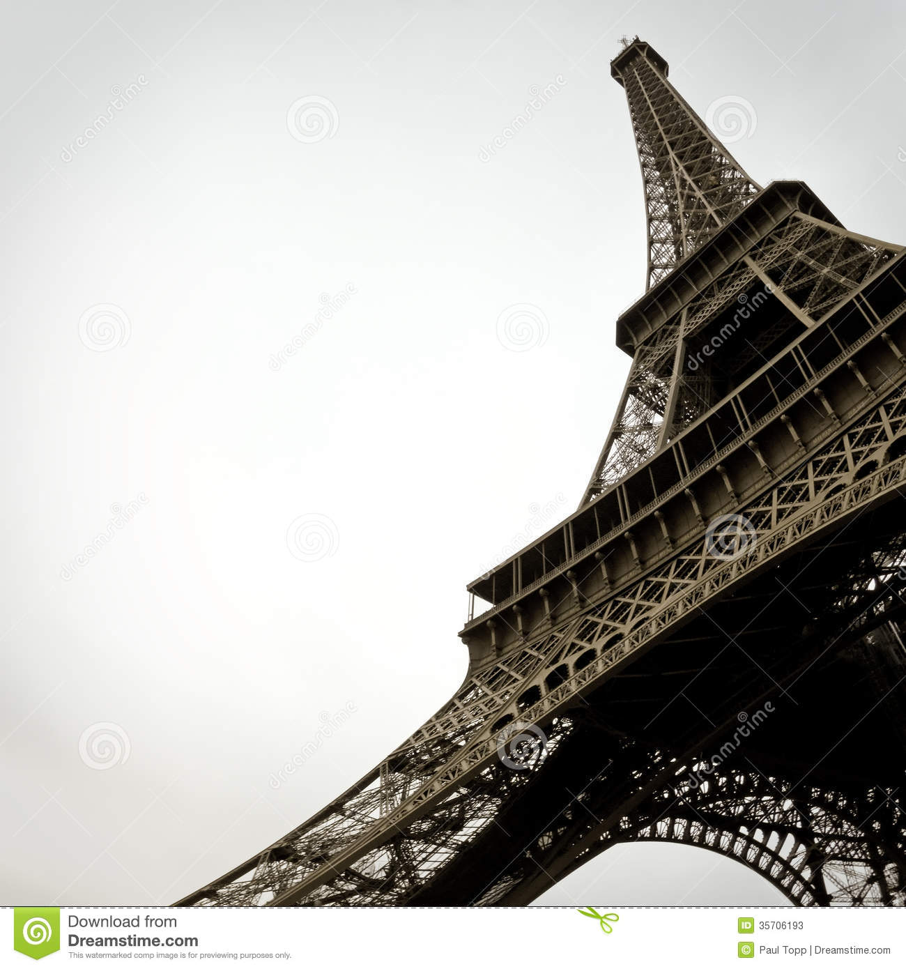 Black and White Eiffel Tower in the City of Paris France