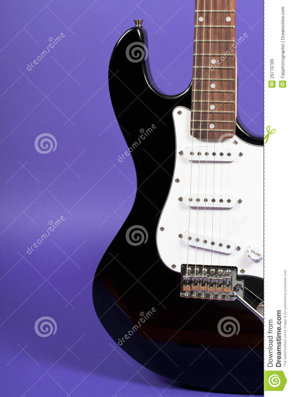 Electric Guitar On Purple Royalty Free Stock Images ...