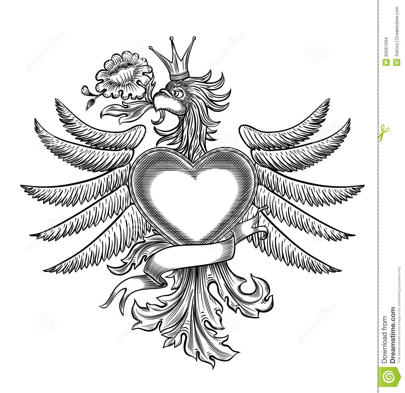 Black And White Emblem With The Eagle Stock Vector Image