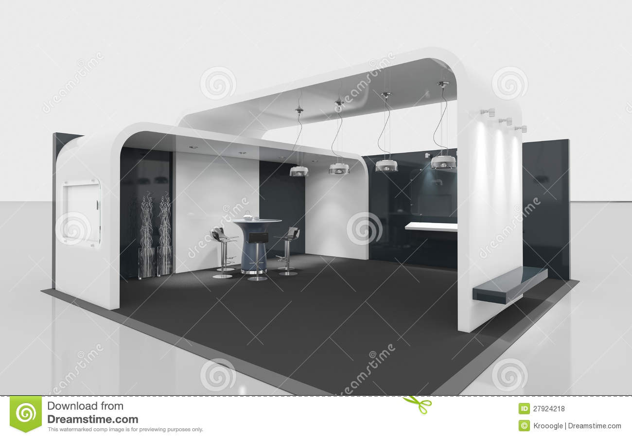Exhibition Booth Free Download : Black and white exhibition stand stock illustration