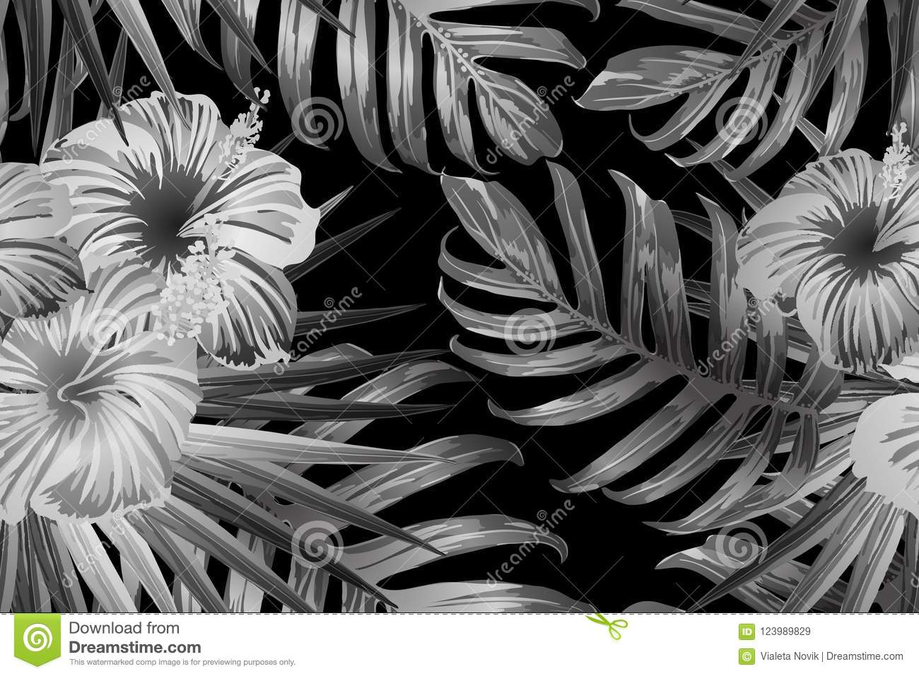 c7b3f4573 Black White Exotic Pattern. Stock Vector - Illustration of hawaii ...