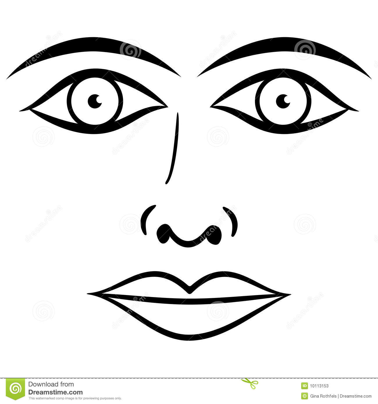 Black and white face vector