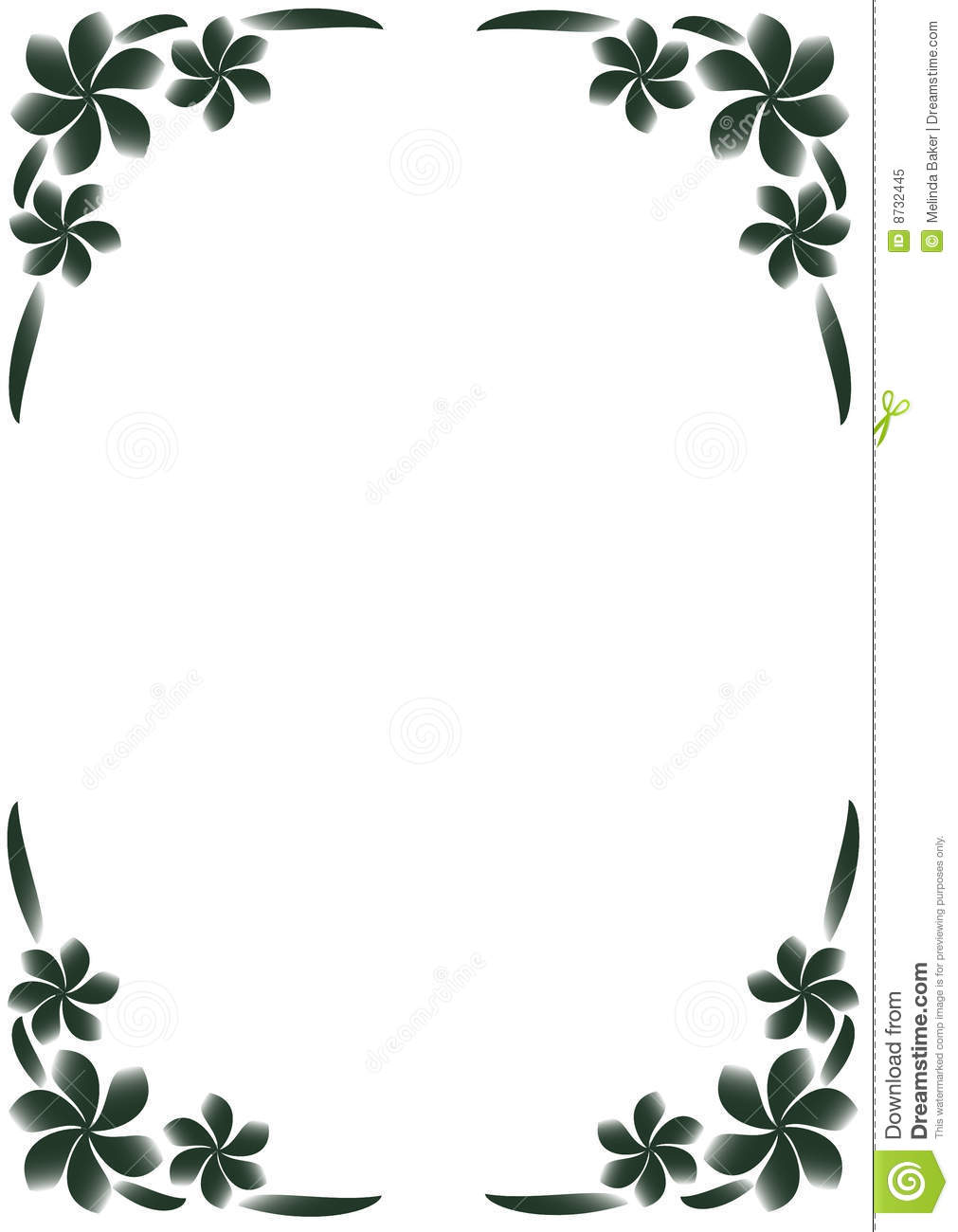 Black & White Floral Border Stock Vector - Illustration of ...