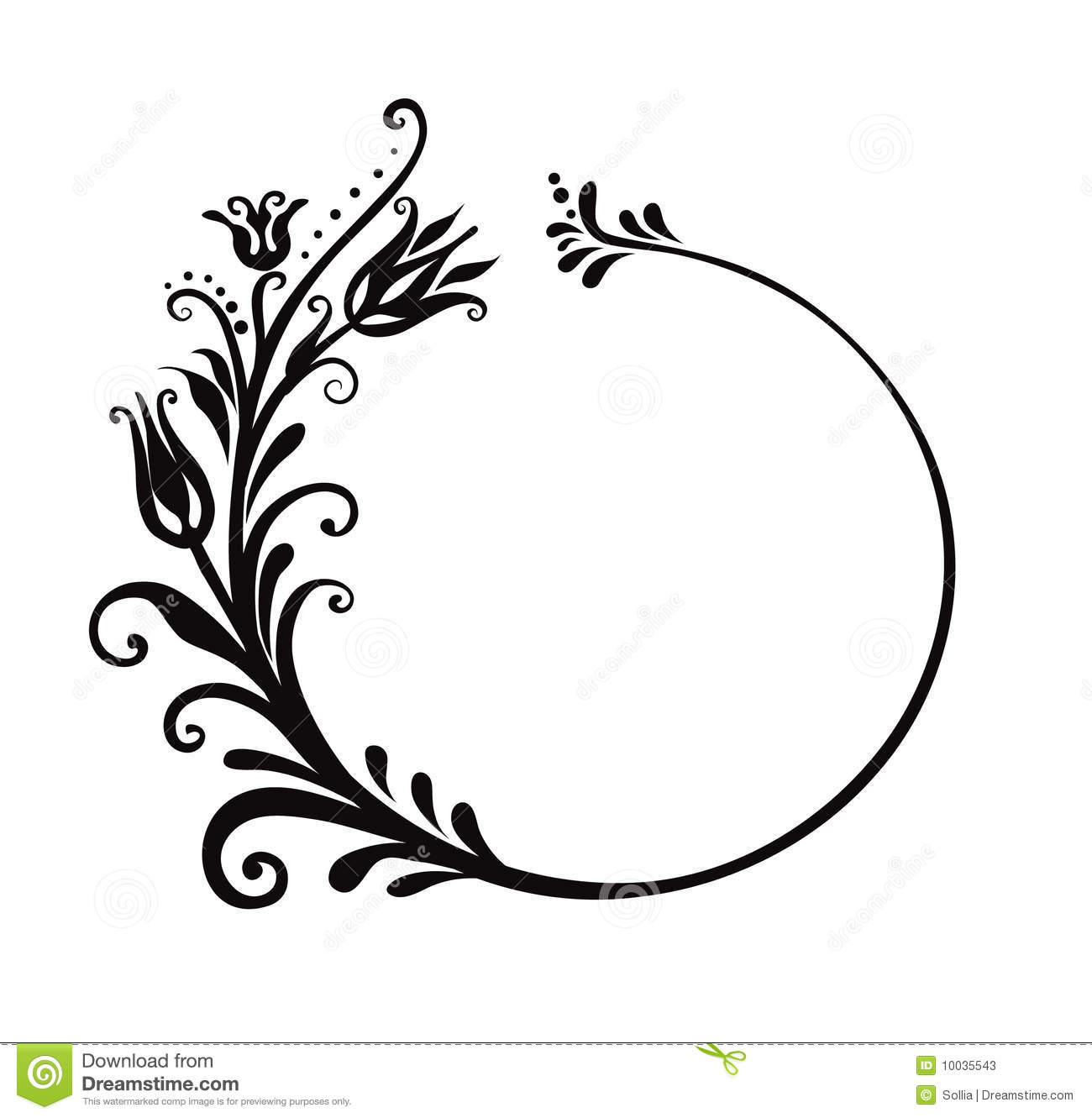 Black And White Floral Frame Stock Vector - Illustration of ...