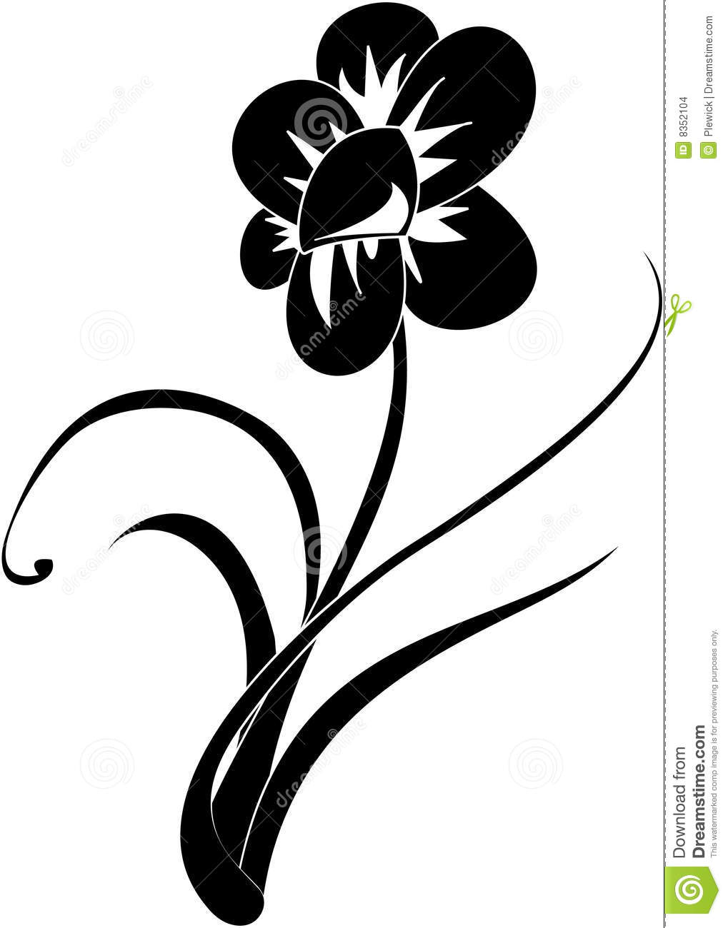 Black and white flower stock illustration illustration of stylized black and white flower mightylinksfo Choice Image