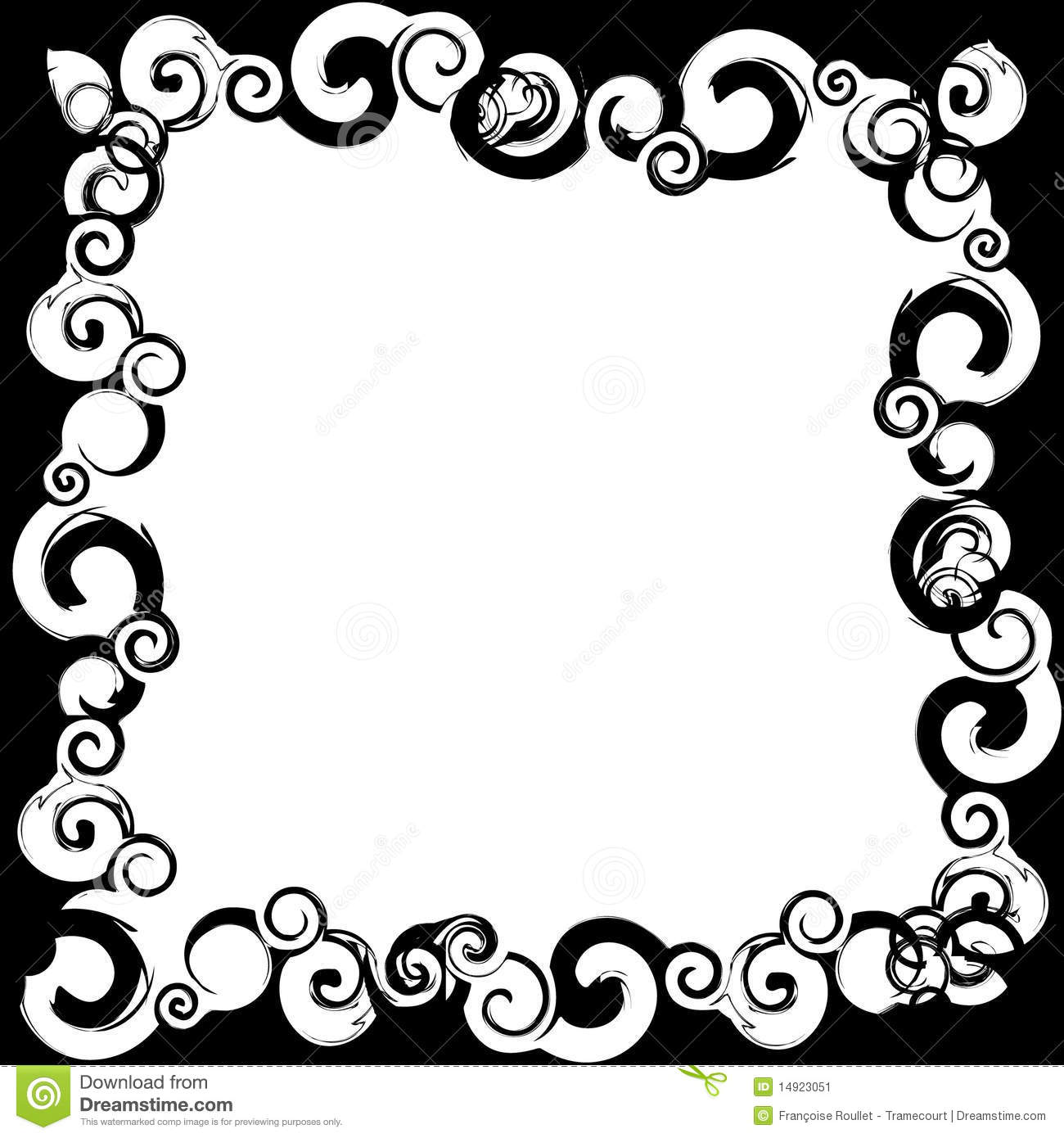 Black white frame stock illustration. Illustration of silhouette ...