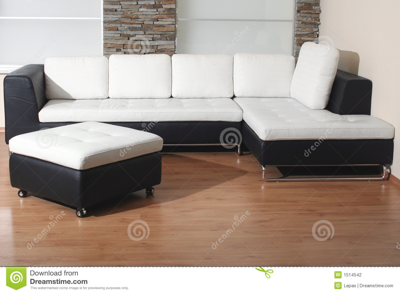 Black And White Furniture Stock Photo. Image Of Home