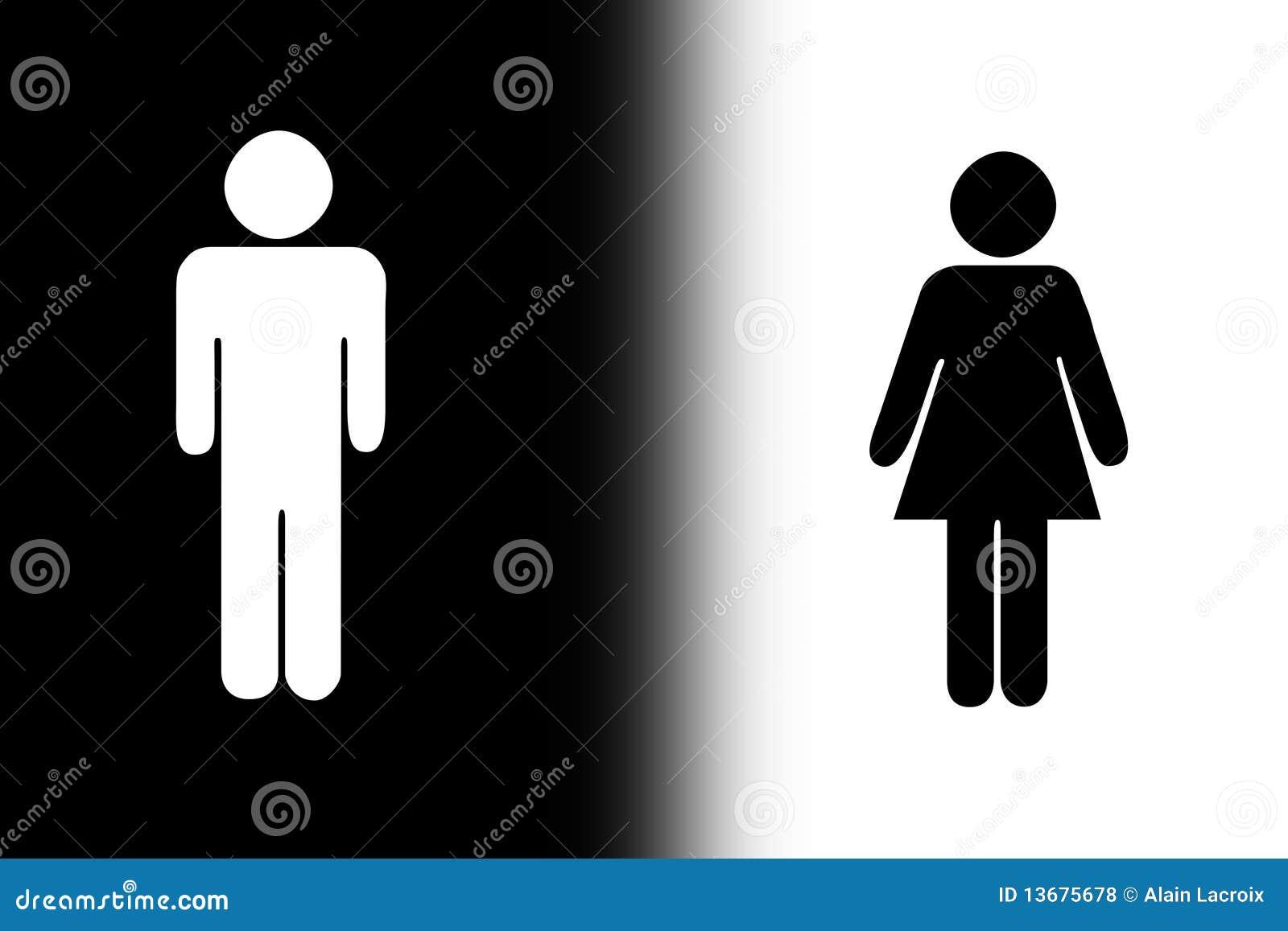 Black and white gender