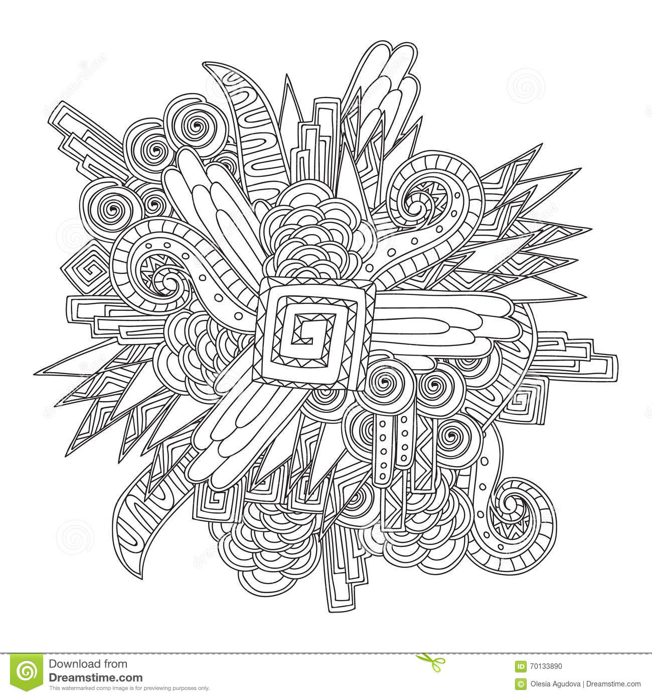 coloring pages for adults book black and white abstract pattern