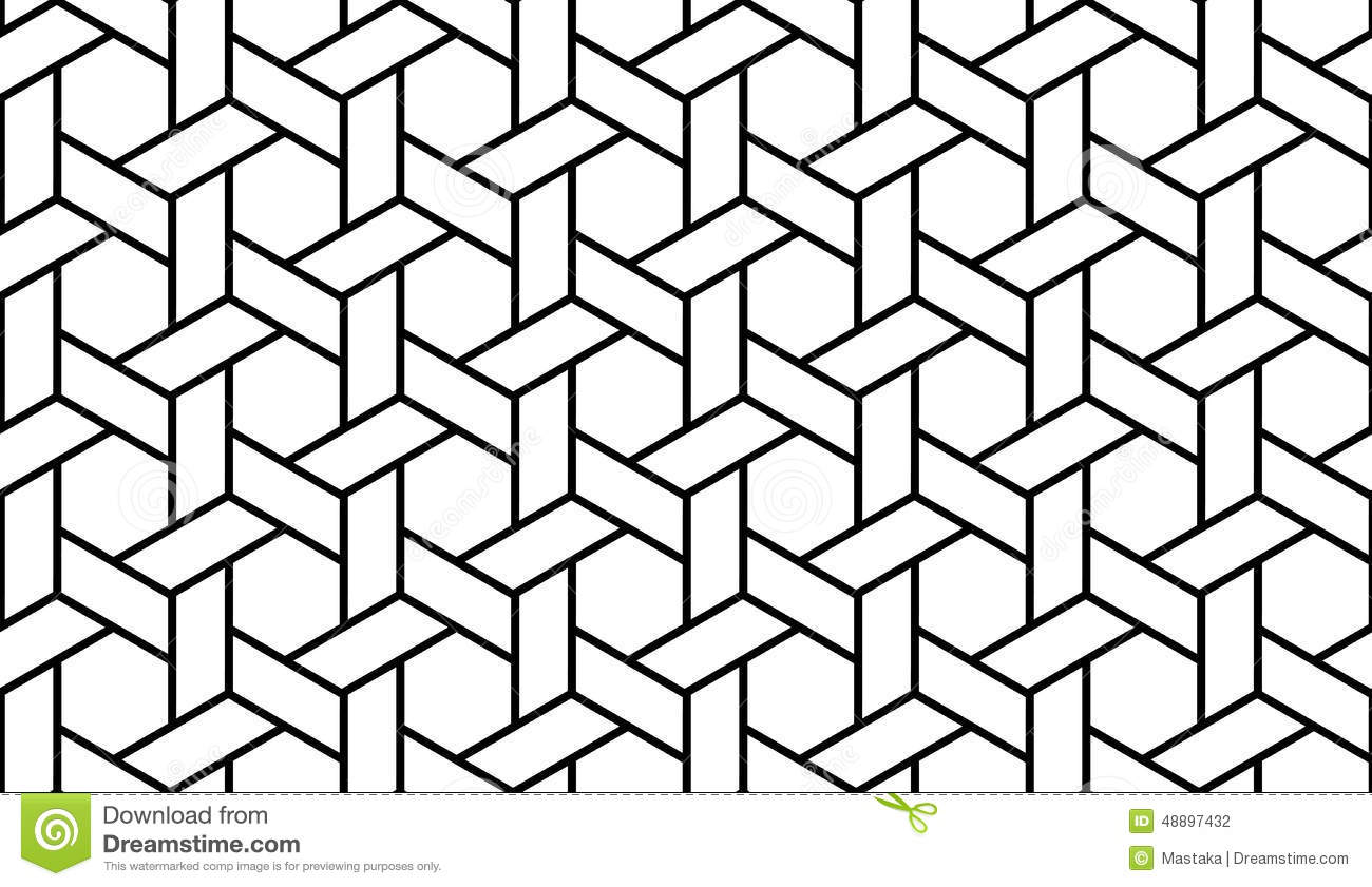 Black And White Geometric Pattern Stock Vector Illustration Of