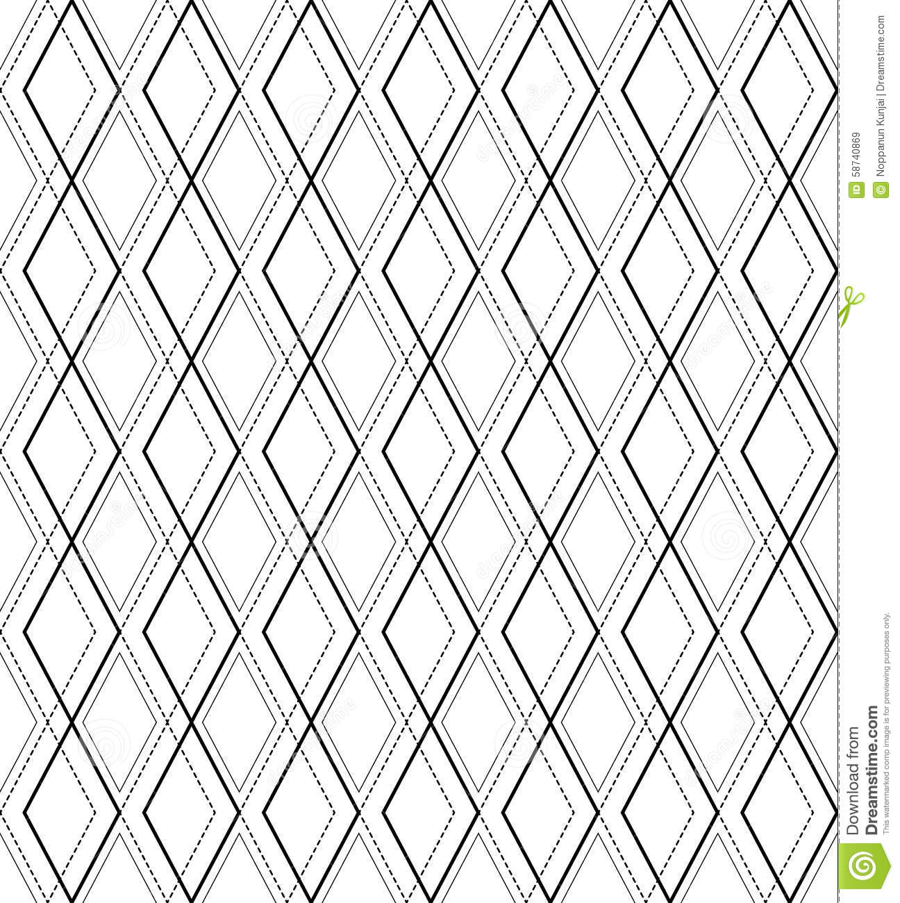 black and white geometric seamless pattern abstract