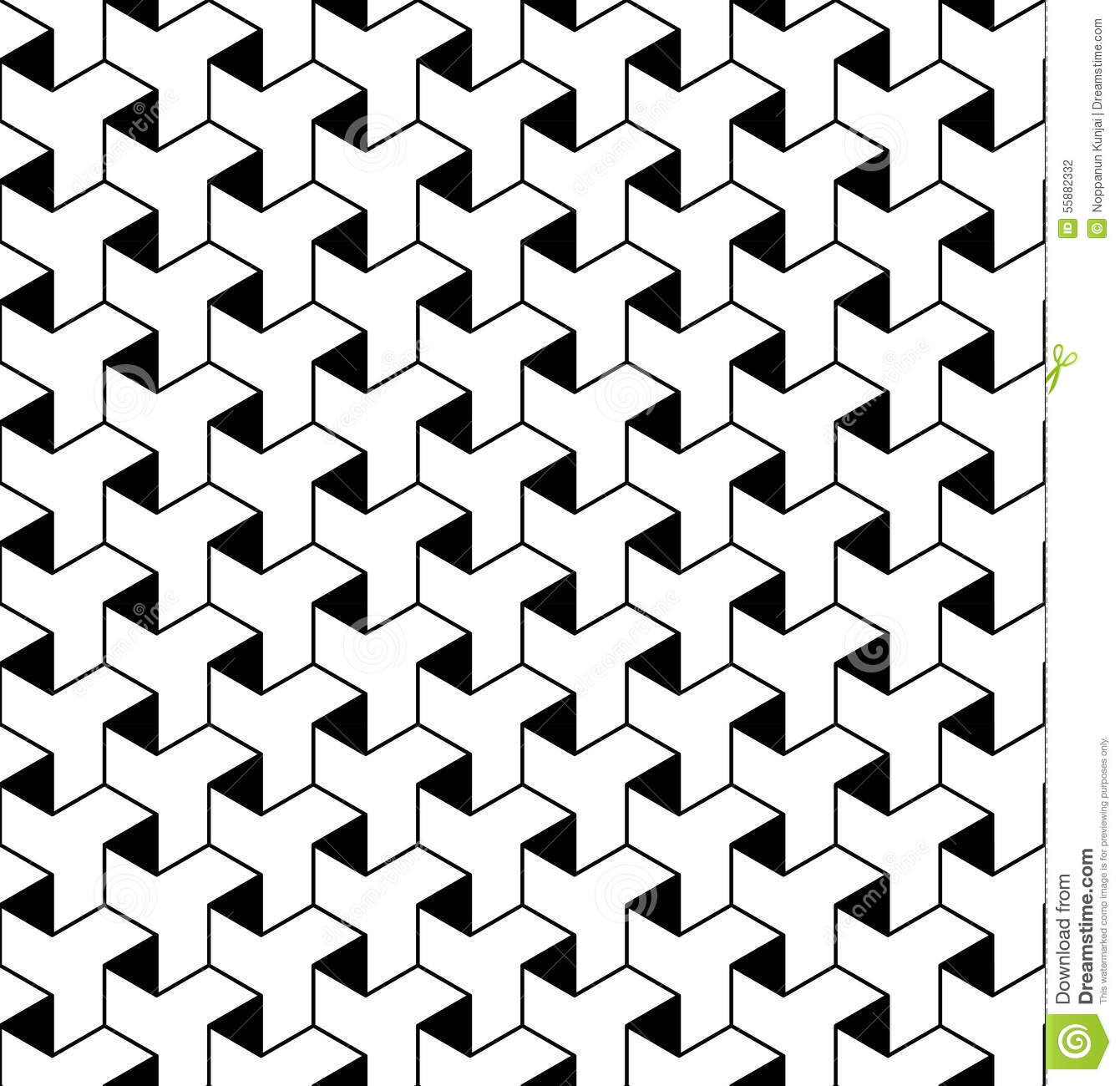 Disegni Geometrici Bianco E Nero black and white geometric seamless pattern with line and