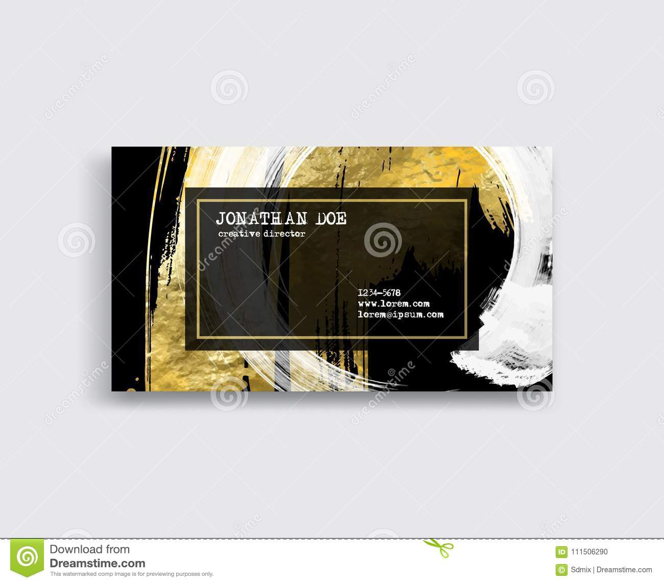 Black white and gold business card template stock vector download black white and gold business card template stock vector illustration of circle reheart Choice Image
