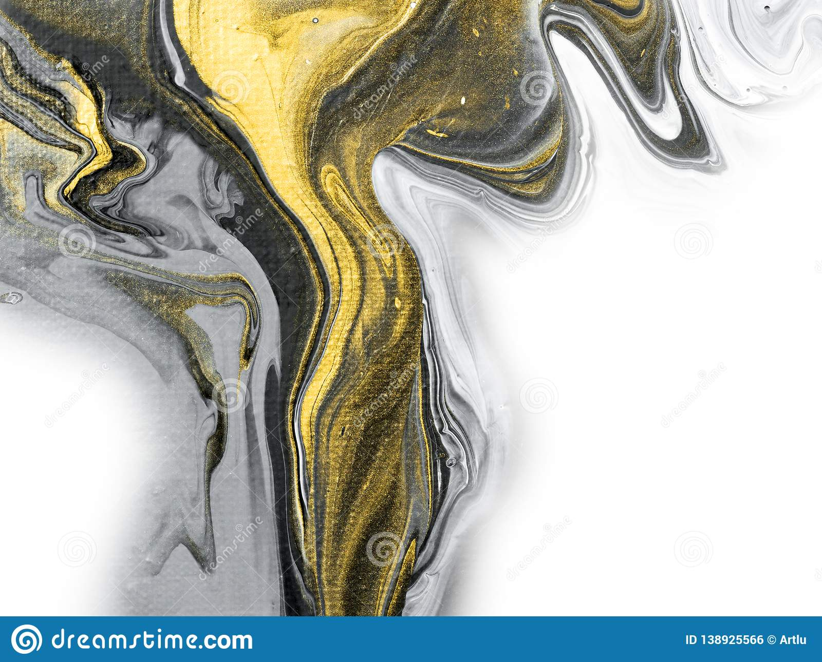 Black And White With Gold Marble Abstract Hand Painted Background Stock Illustration Illustration Of Backdrop Background 138925566