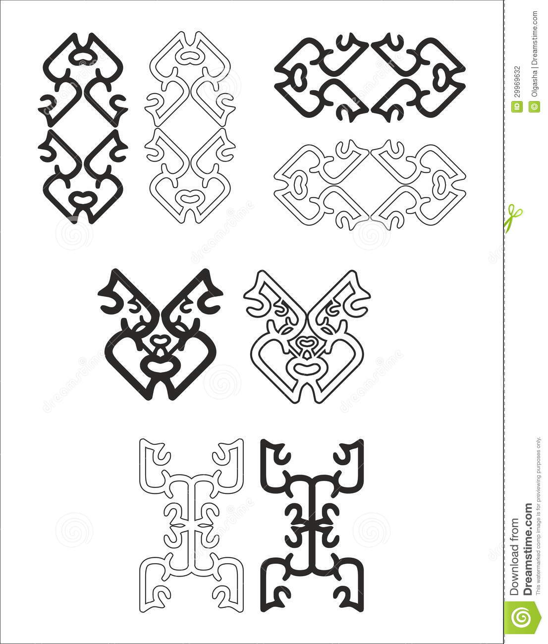 Decorative elements for design stock photography image for Gothic design elements