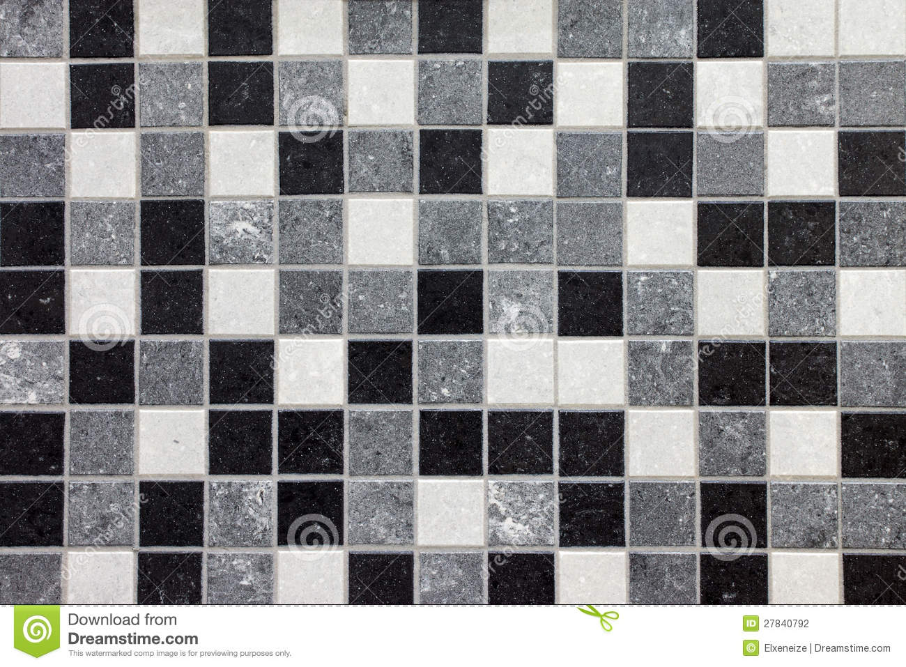 Black White And Gray Mosaic Tiles Stock Photography