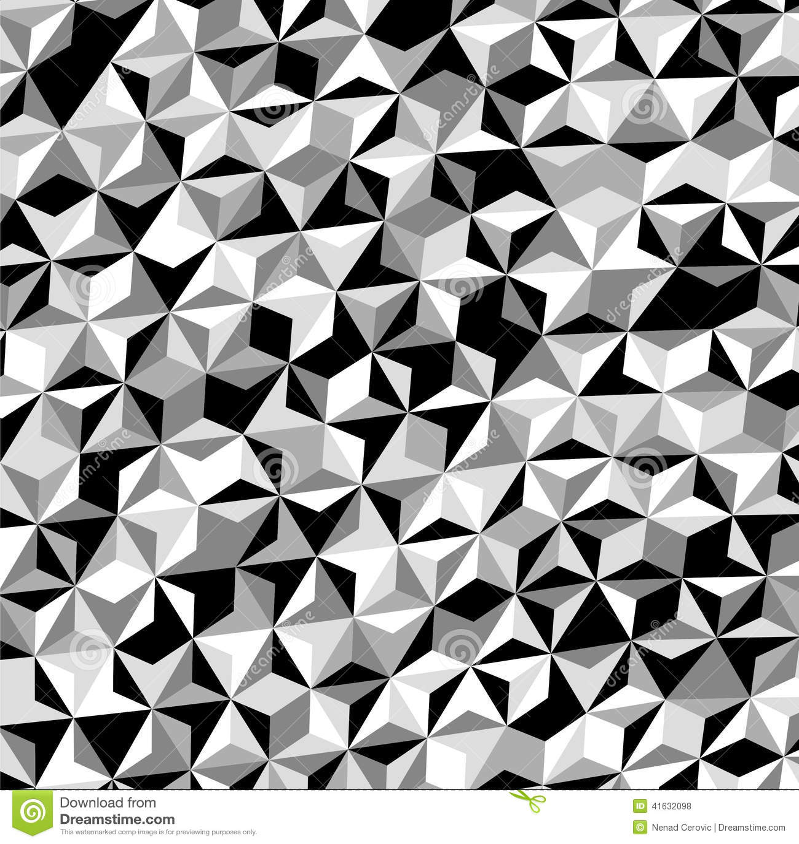 black and white geometric triangle pattern