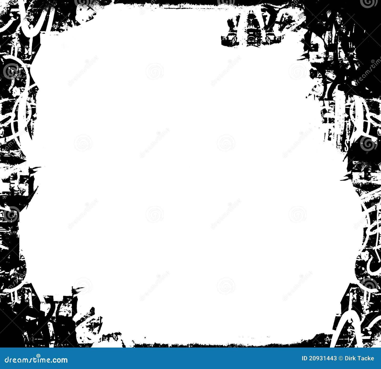 Black And White Grunge Border Stock Photos Image 20931443