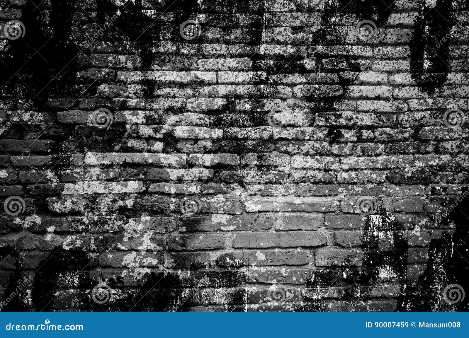 Black And White Grunge Brick Wall Texture Stock Image