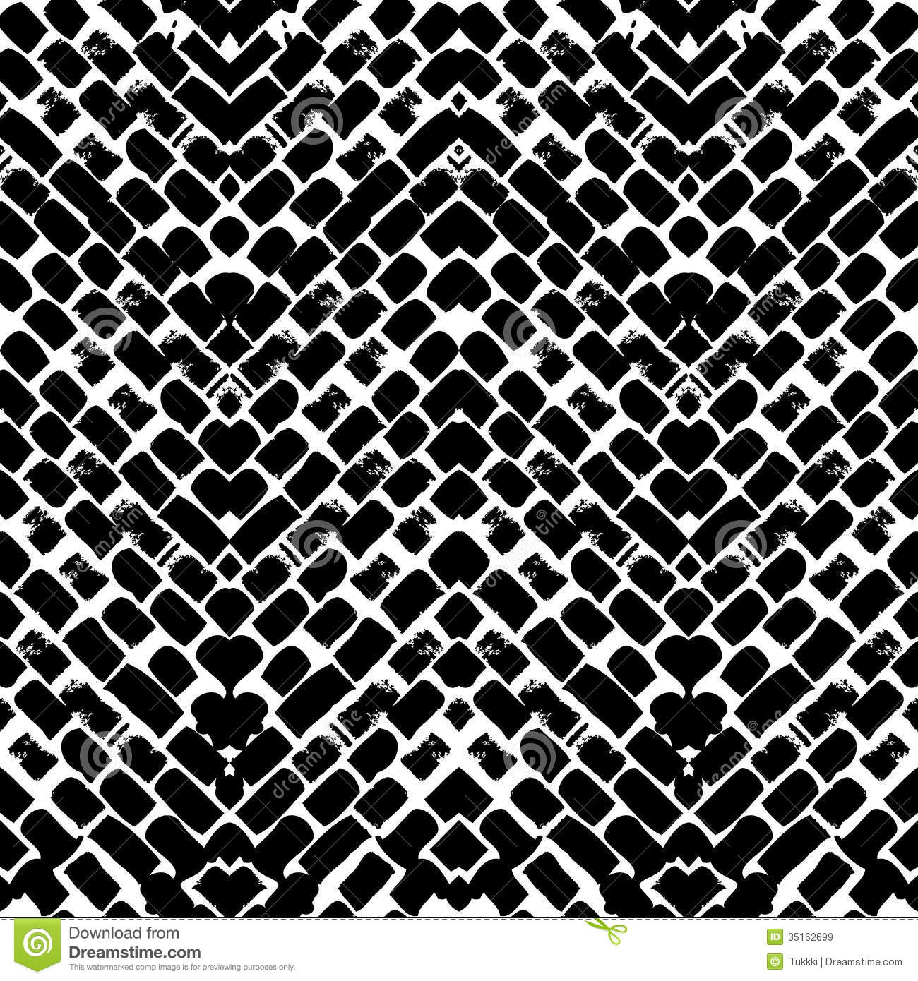 Black and white hand painted Black And White Tribal Print Wallpaper