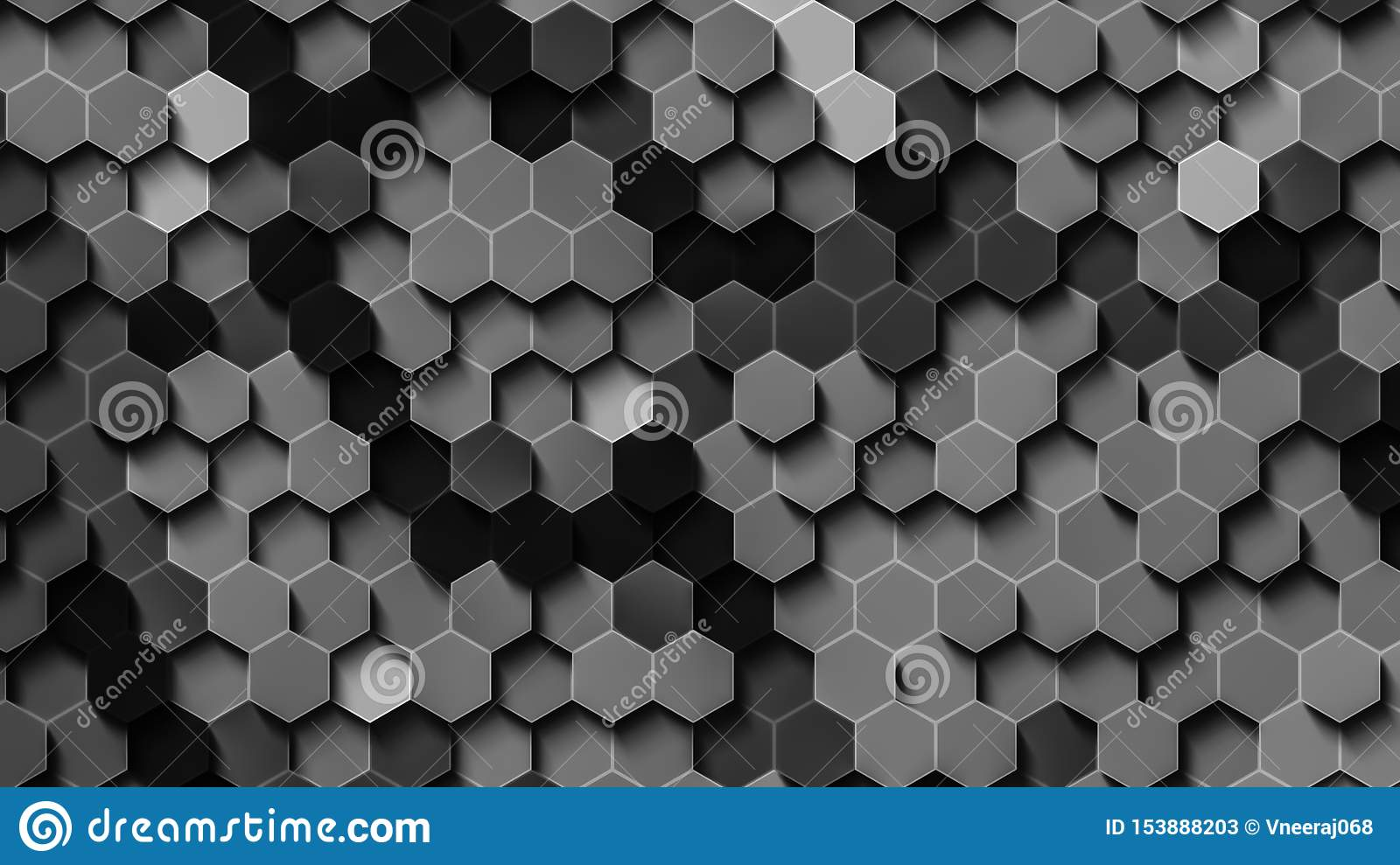 Black and white hex wallpaper