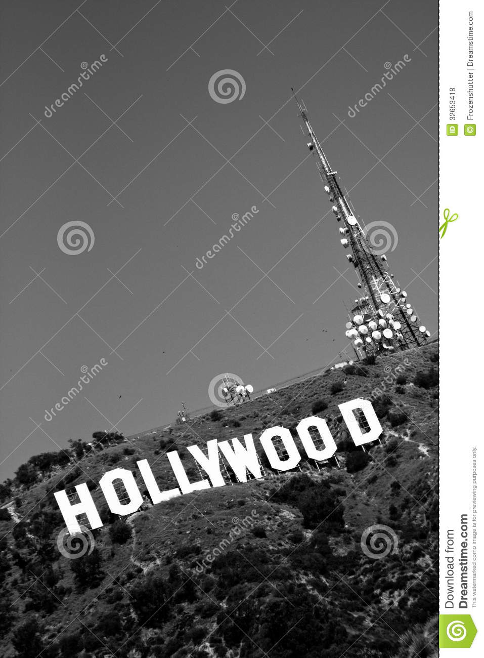 Black And White Hollywood Sign Editorial Stock Photo Image - Los angeles poster black and white