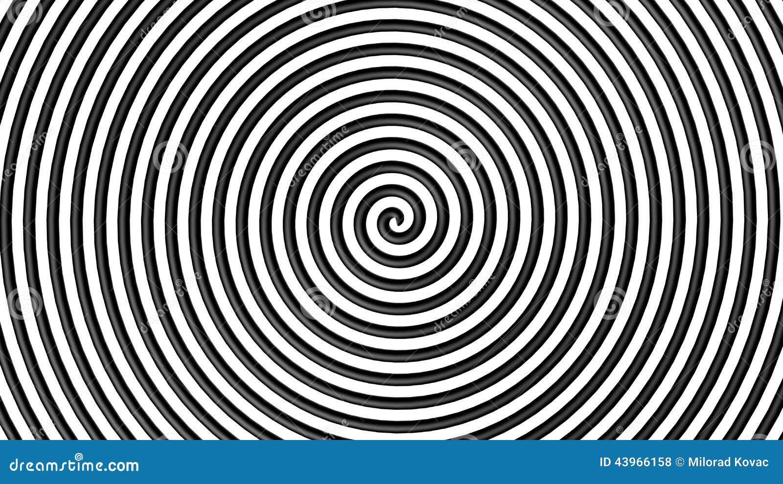 Black And White Hypnotic Circle Stock Illustration  Image: 43966158 - Eiffel Tower Floor Plan