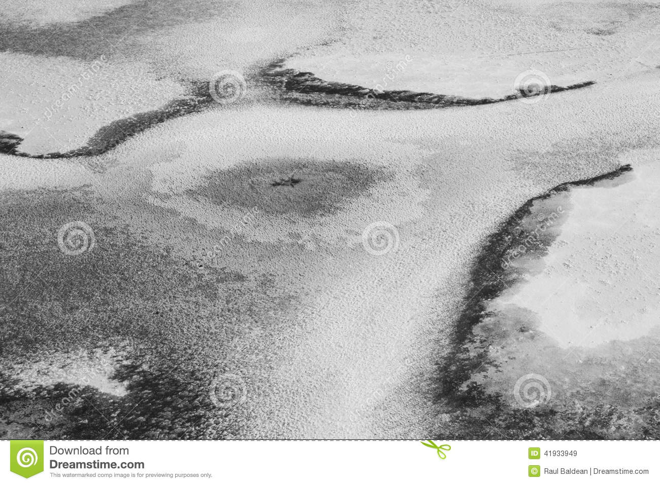 Black and white ice texture