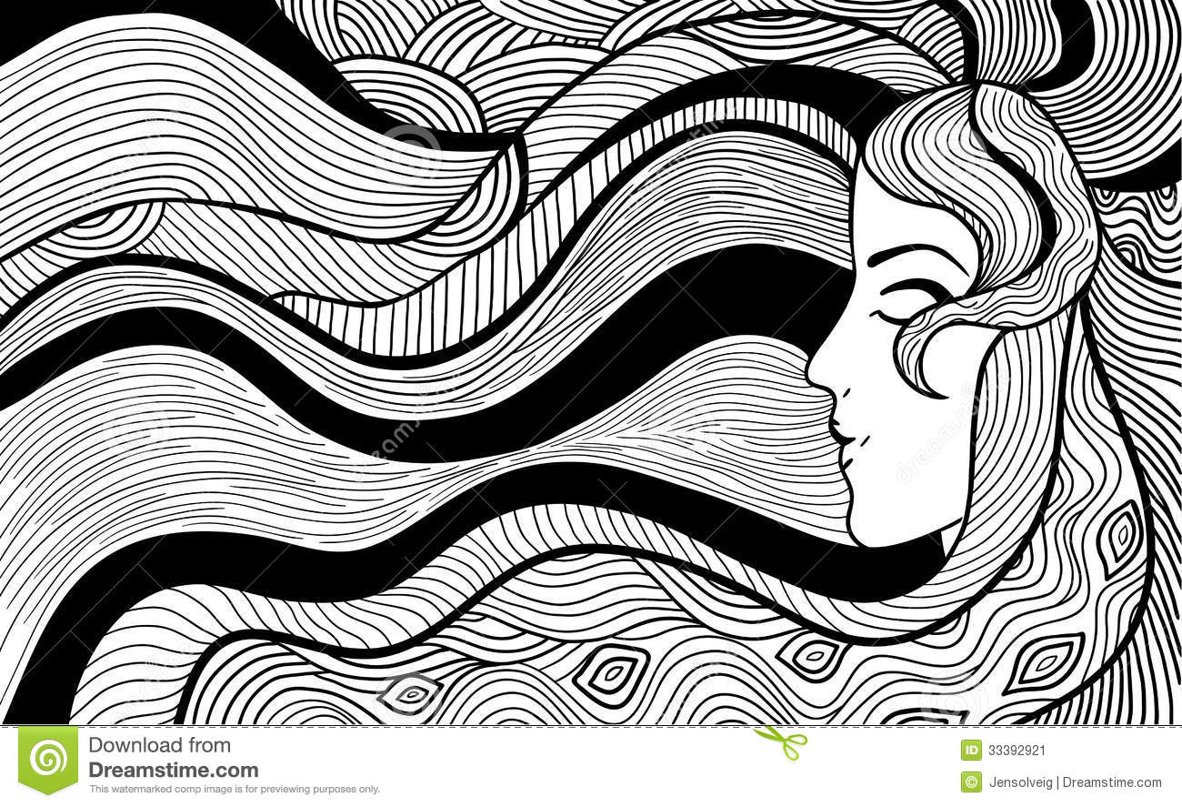 Black and white illustration stock vector illustration of