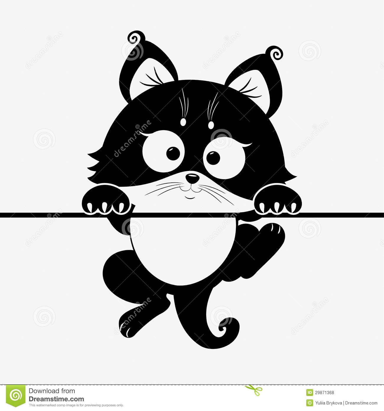Kitten Stock Vector Illustration Of Outline Isolated