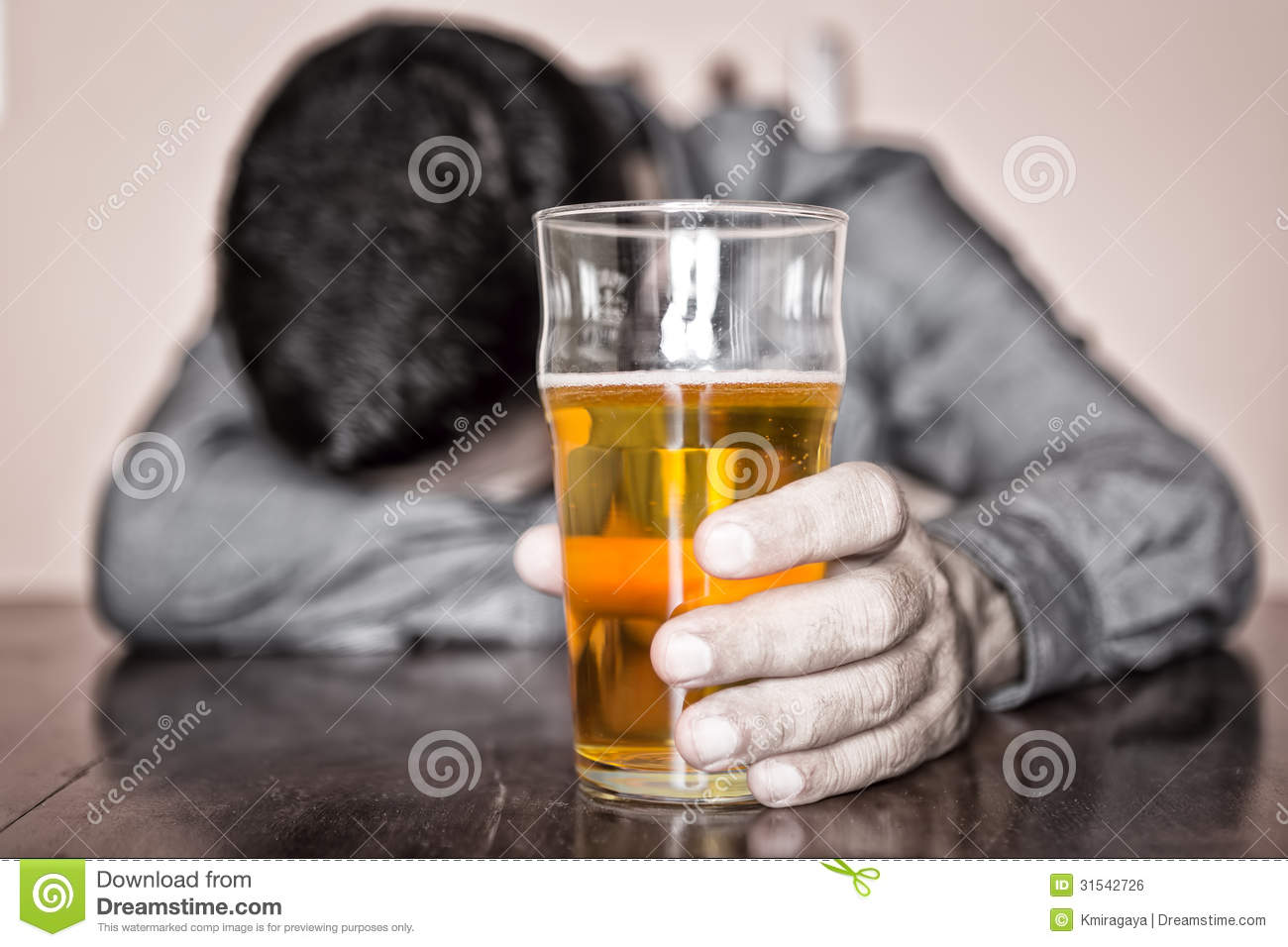 black-white-image-sleeping-drunk-man-his