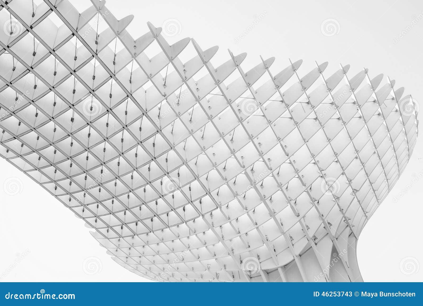 black and white impression of metropol parasol editorial. Black Bedroom Furniture Sets. Home Design Ideas