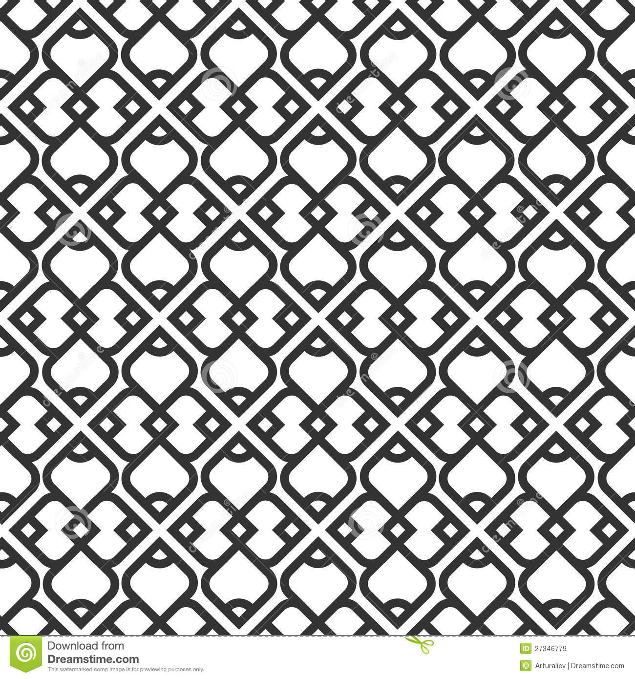 Black And White Islamic Seamless Pattern Stock Vector ... for Simple Islamic Designs  183qdu