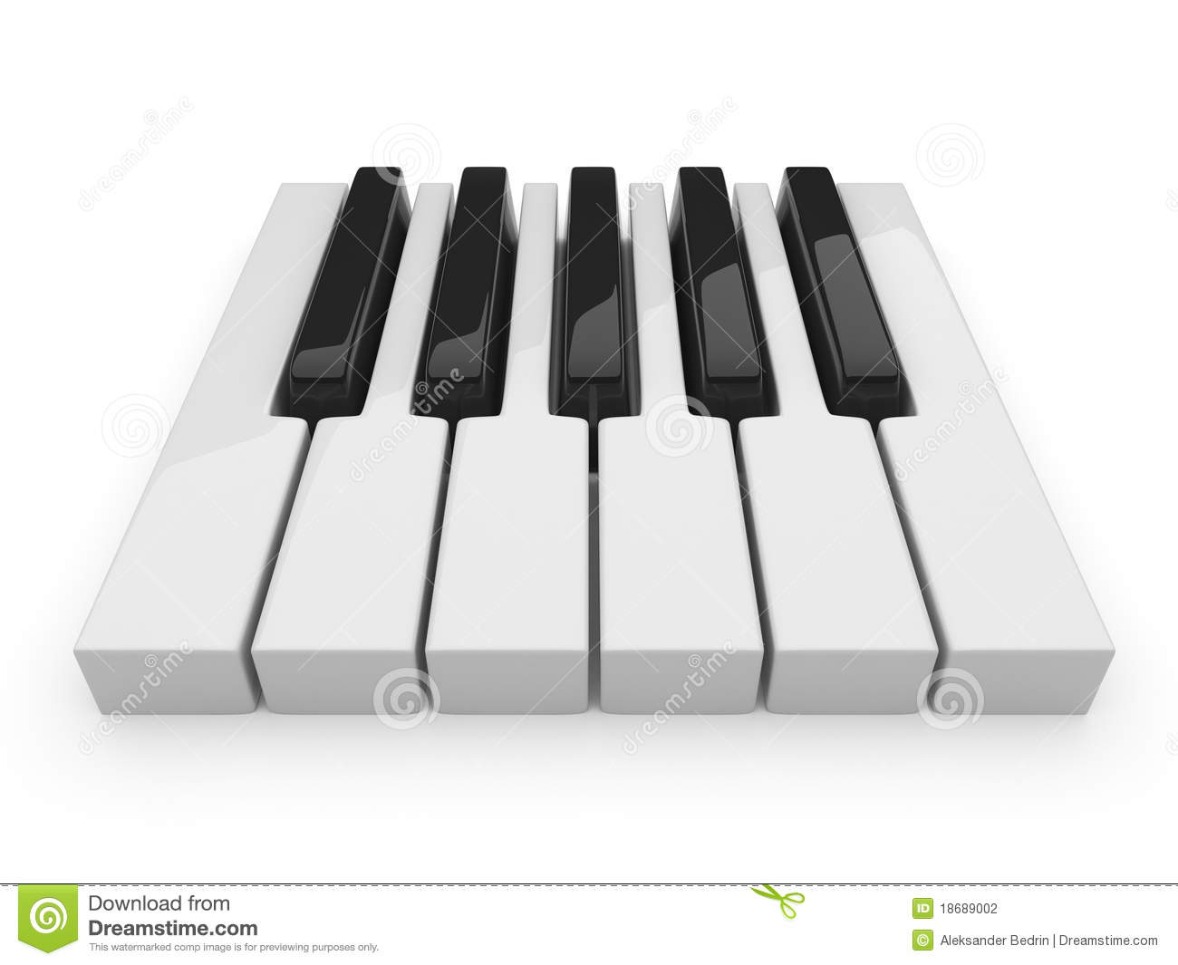 black and white keys on music piano 3d isolated stock. Black Bedroom Furniture Sets. Home Design Ideas