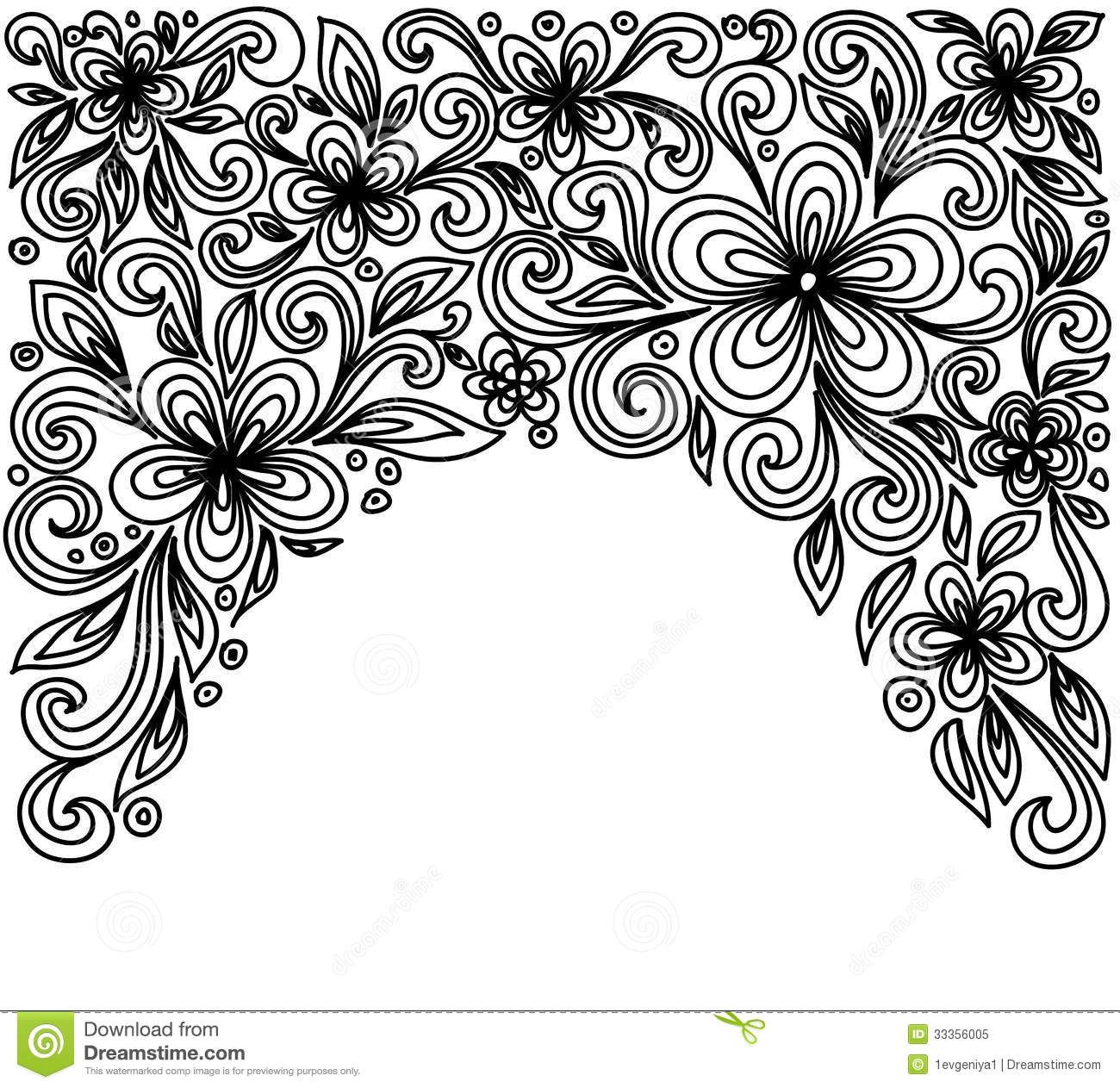 Black and white flowers and leaves floral design element in retro black and white lace flowers and leaves isolated on white floral design element in retro mightylinksfo