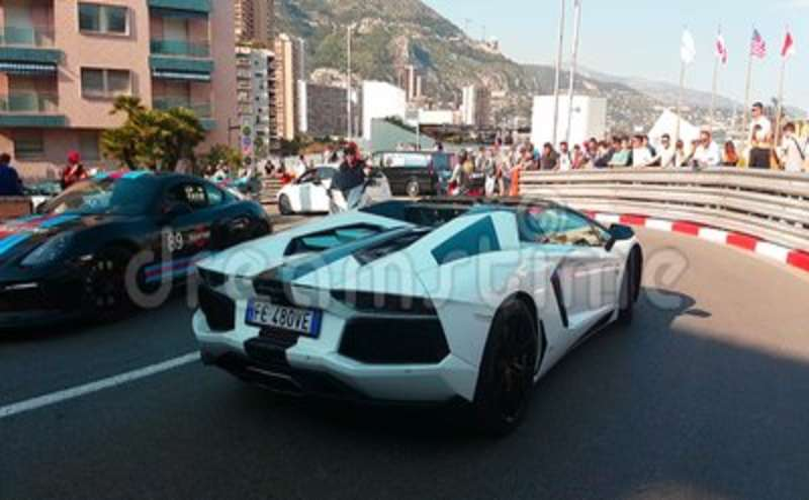 Black And White Lamborghini Aventador Lp 700 4 Roadster Stock