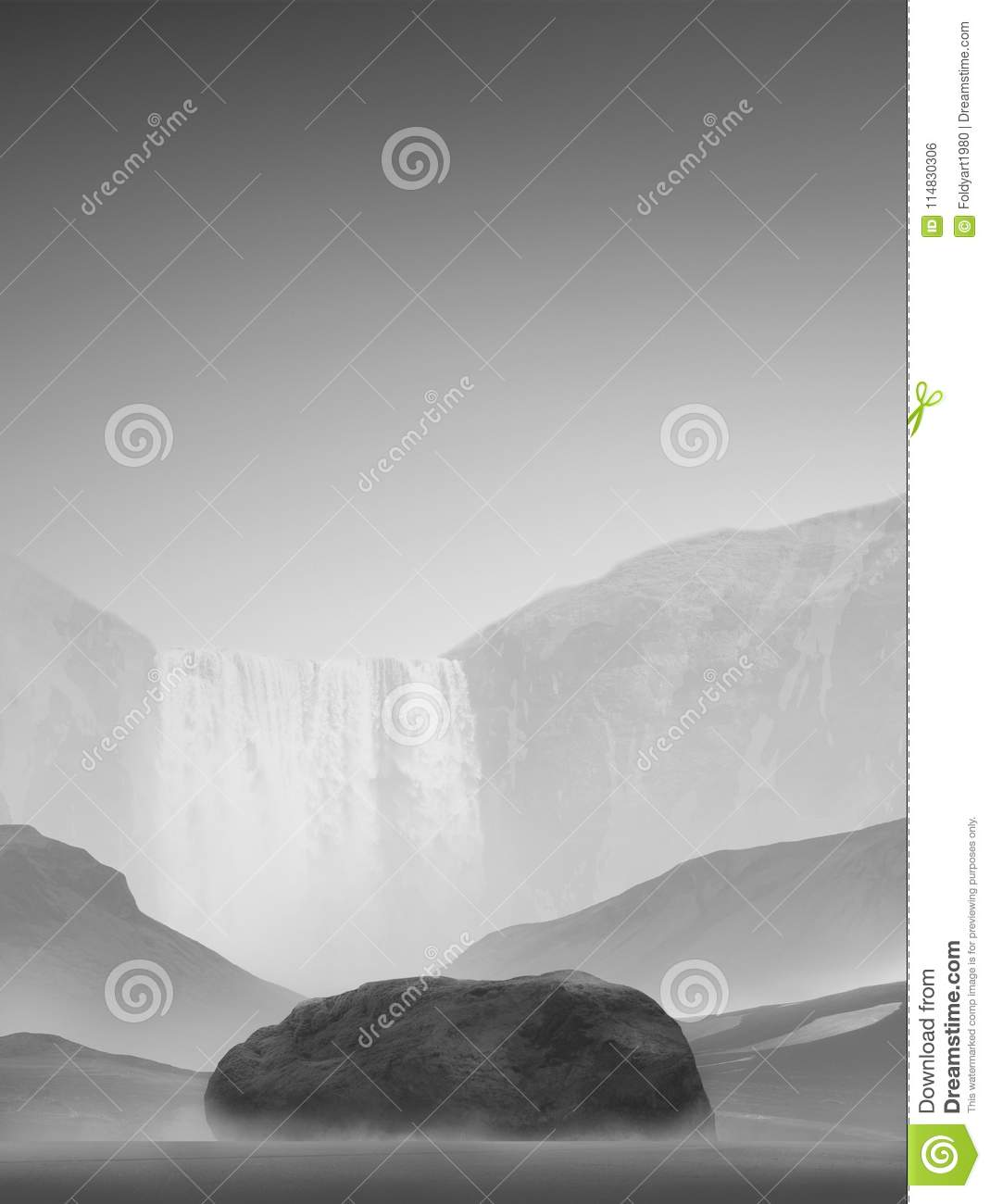 Black And White Landscape Stock Photo Image Of Wallpaper 114830306