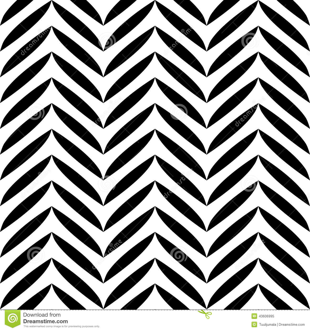 Black And White Leaves Pattern Stock Vector Illustration Of Shape