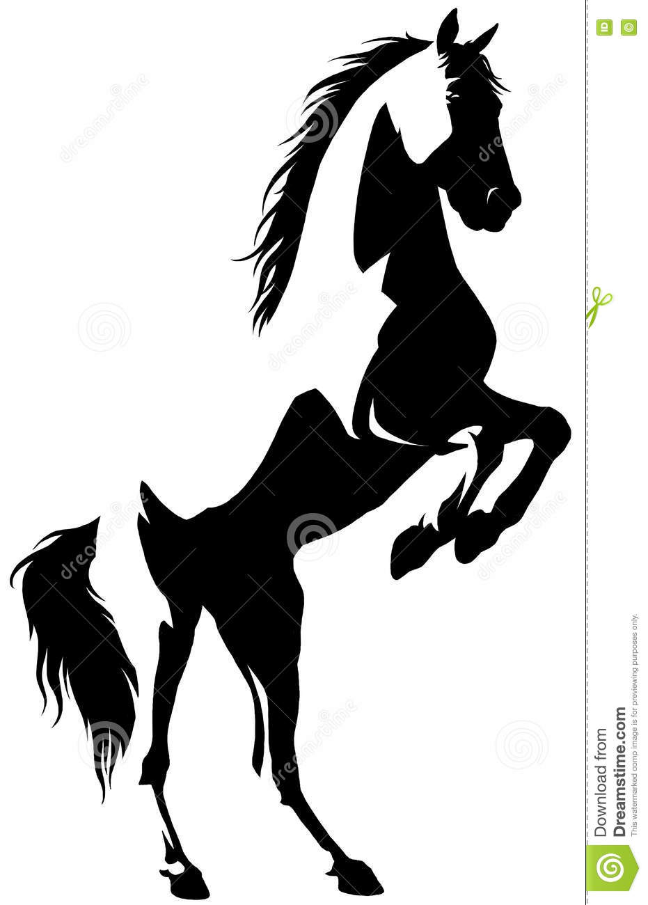 Black And White Linear Paint Draw Horse Illustration Stock Illustration Illustration Of Contour Graphic 78889661