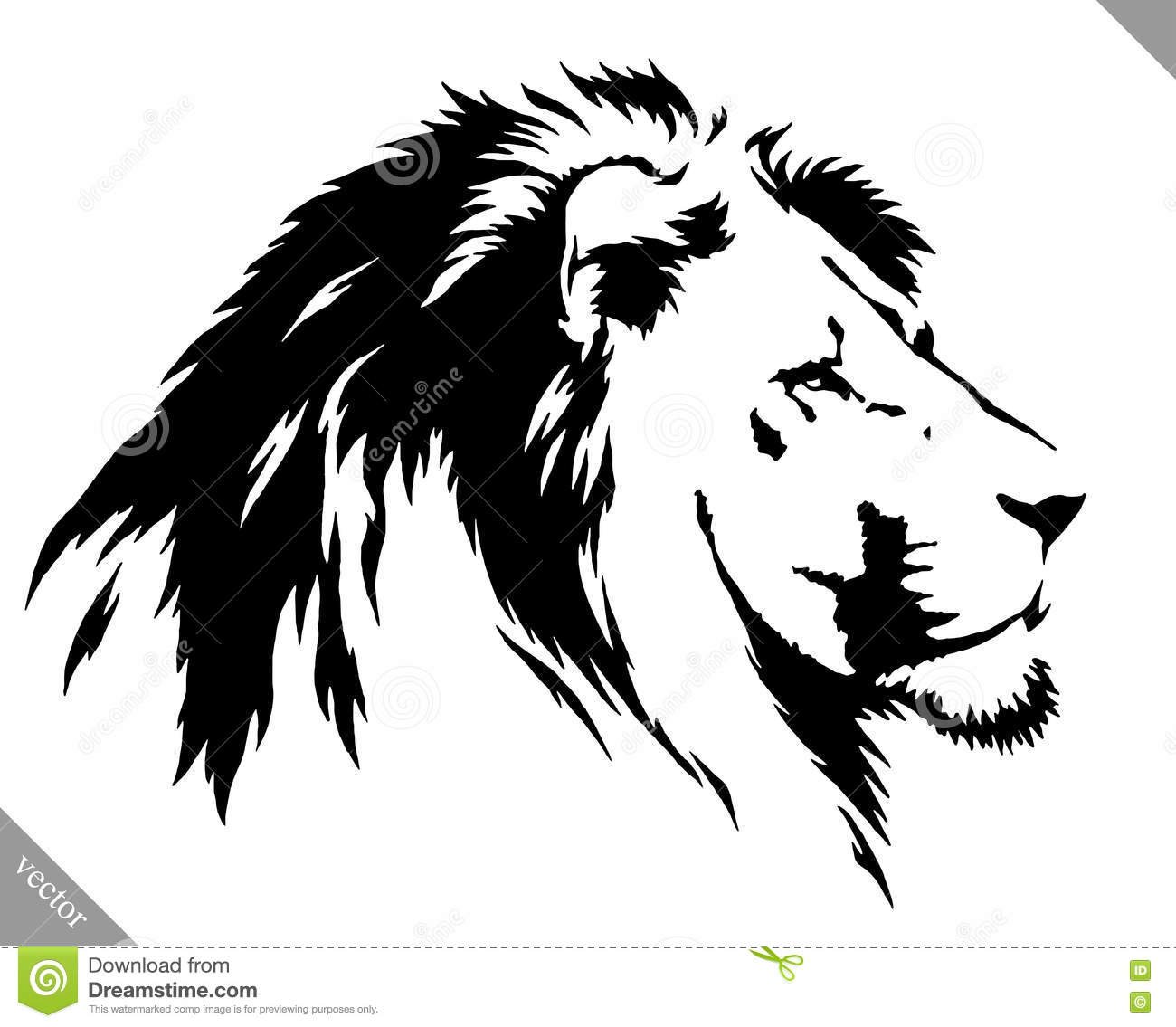 Lion Outline Painting / Easy and fun lion painting demo for black and white paint!