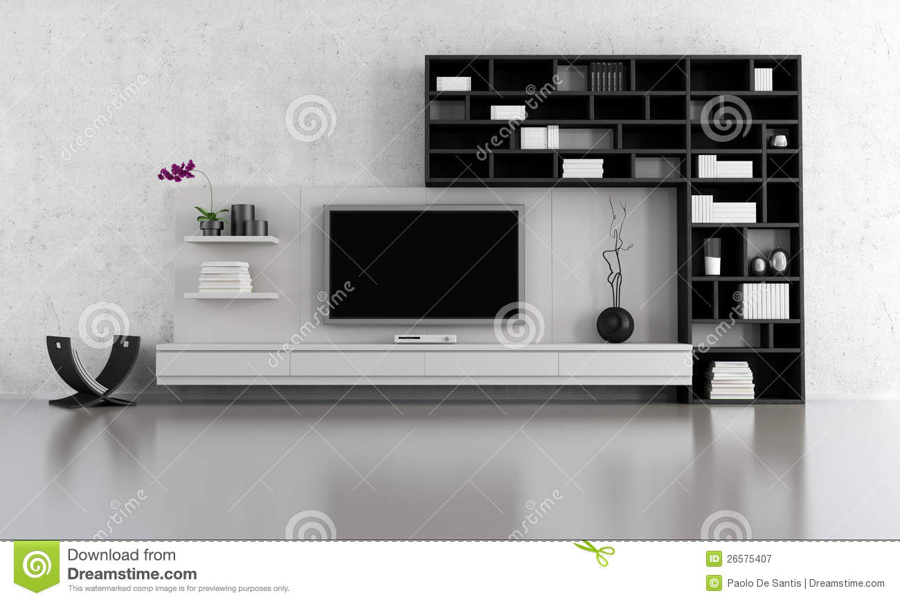 Black And White Living Room Black And White Living Room Royalty Free Stock Photography Image