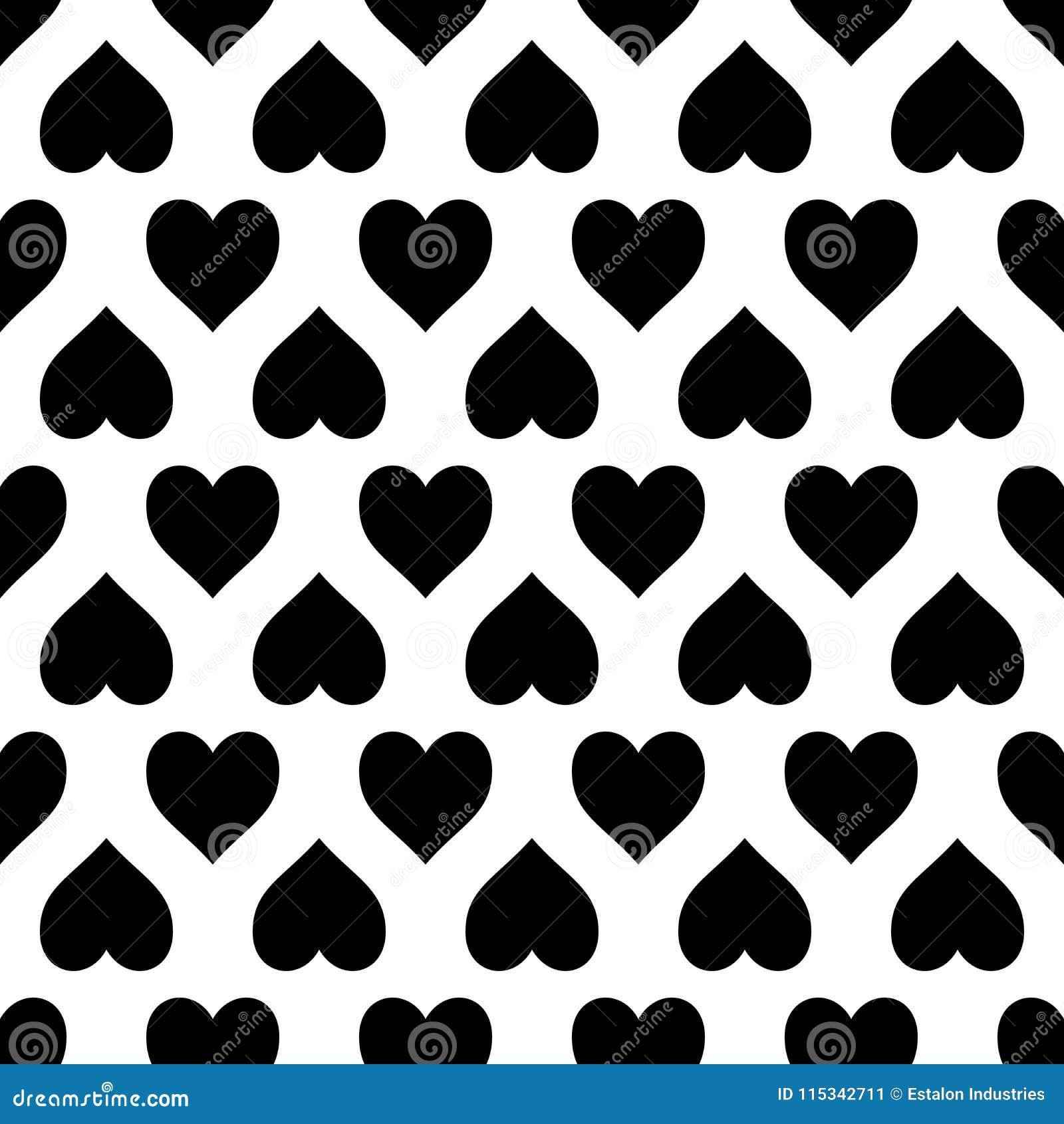 black white love heart pattern seamless repeat background two colour love heart pattern seamless repeat background could be 115342711