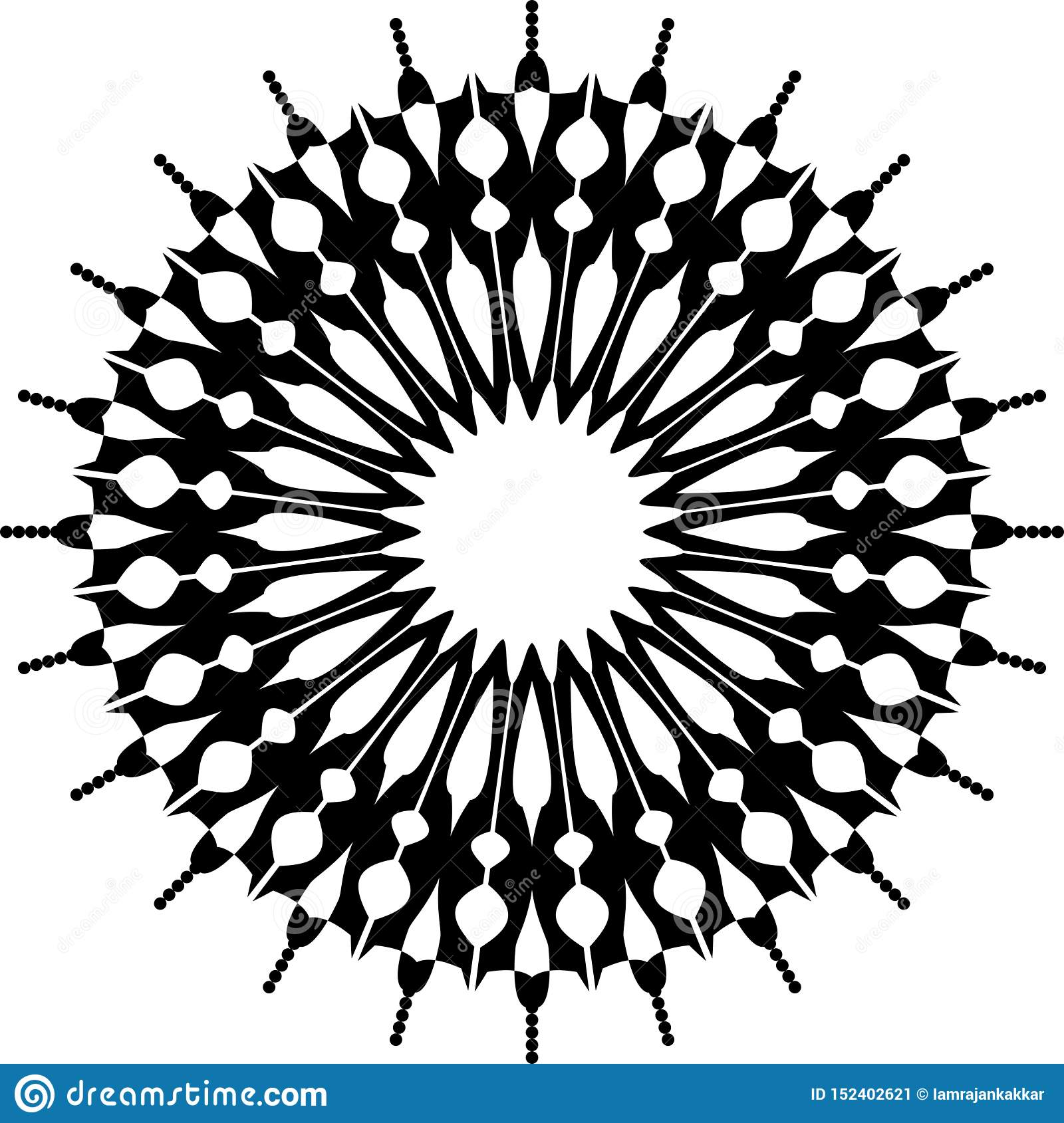Black And White Mandala Background And Wallpaper Design Stock Vector Illustration Of Abstract Colorful 152402621